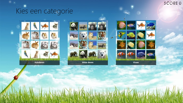 Dieren Memory Windows Store App